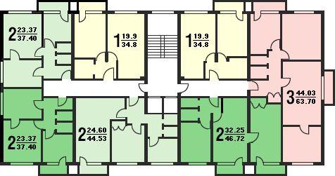 Перепланировка трехкомнатной квартиры, хрущевки