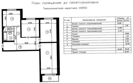в домах серии КОПЭ-М-Парус